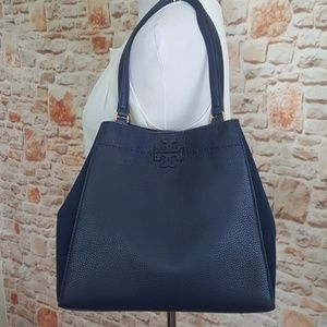 New Tory Burch McGraw Mixed Tote Bag